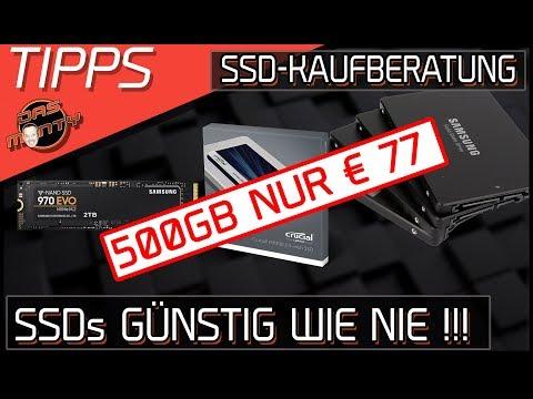 SSDs GÜNSTIG WIE NIE - 500GB nur €77,00 - SSD-Kaufberatung   DasMonty Deutsch