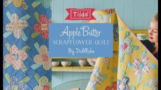 Tilda Apple Butter Scrap Flower Quilt ( Flower Block ) By Diddlisha