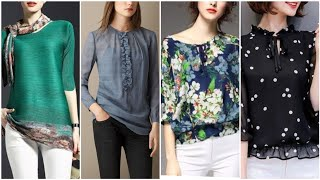 Beautiful Collection Of Womens Chiffon Blouses For Summer Season 2019
