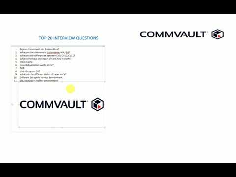 Commvault v10, v11 - Top 20 Interview Questions - Crack the ...
