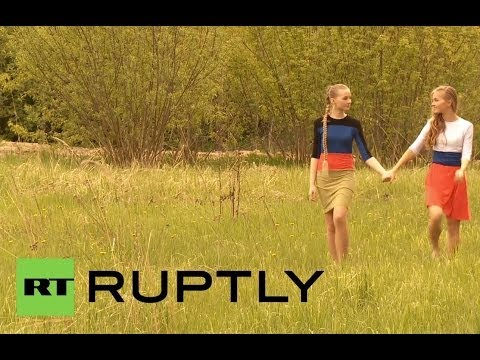 Russia: Models pose in photoshoot for Donetsk People's