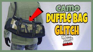 *SOLO*GTA ONLINE GET CAMO DUFFEL BAG GLITCH 1.50 (HOW TO SAVE COLOR DUFFEL BAG )
