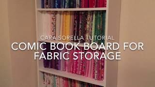Comic Book Board Fabric Storage