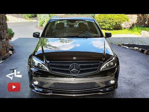 #NEWLOOK for W204 Headlight replacement front lip installation Part 1