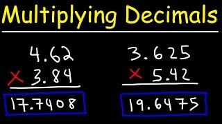 Multiplying Decimals - Basic Introduction!