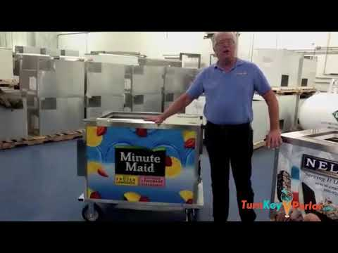 BDC8 Ice Cream Push Cart with Cold Plates Nelson