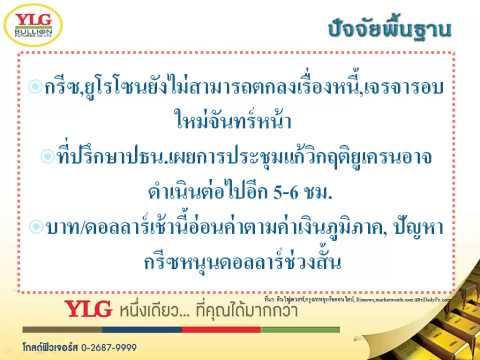 YLG บทวิเคราะห์ราคาทองคำประจำวัน 12-02-15