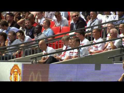 Manchester United vs Wigan Athletic 2-0 Exclusive Pitchside Highlights FA Community Shield 2013