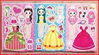 Đồ chơi dán hình búp bê công chúa thay quần áo và đeo giày - Sticker for kids (Chim Xinh)