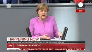 LIVE: Angela Merkel addresses parliament on refugee crisis