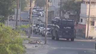 preview picture of video 'المقشع : مصفحة ومركبات الشرطة تقمع تظاهرات سبت التمرد 17/8/2013 | Bahrain'