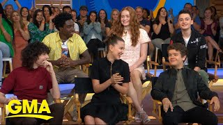 Cast of 'Stranger Things' dishes on the new season live on 'GMA' | GMA