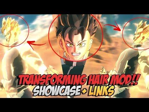 Dragonball Xenoverse 2 Big News Transforming Hair Mod Tryzick
