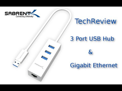 Tech Review – Sabrent 3-Port USB 3.0 HUB with Gigabit Ethernet Network