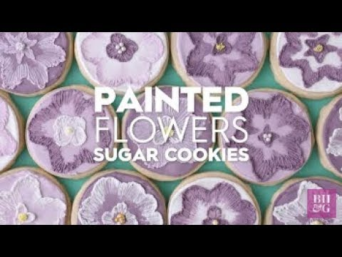 Embroidered Flower Sugar Cookies | Fun With Food | Better Homes & Gardens