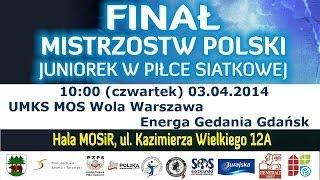 preview picture of video 'MPJ 2014: UMKS MOS Wola (Warszawa) vs Energa Gedania Gdańsk'