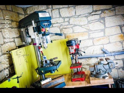 Meistverkaufte günstige Tischbohrmaschine im Vergleich und Aufbau der größeren Optidrill D23 pro
