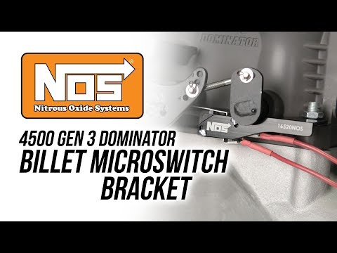 NOS Billet Micro Switch Bracket Kit For Dominator Carbs