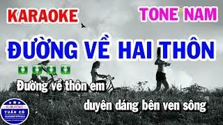 karaoke-duong-ve-hai-thon-nhac-song-cha-cha-tone-nam-tuan-co-karaoke