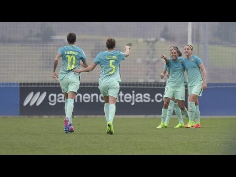 [HIGHLIGHTS] FUTBOL FEM (Liga): Real Sociedad - FC Barcelona (0-3)