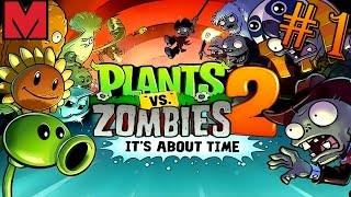 Растения против Зомби 2 Защищаем пирамиды от злых Зомби
