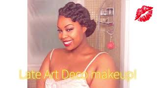 1930s Art Deco Old Hollywood Glamour Makeup For Black Women