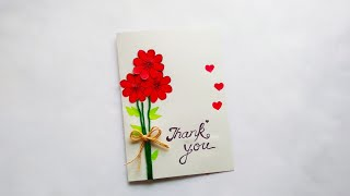 How to make : A Beautiful Thank You Card for Any Occasion | Dinesh Arts