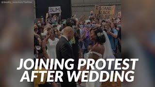 Bride, Groom Join Philadelphia Protesters After Wedding Ceremony