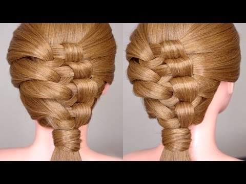 Easy Intricate Knotty Braid Hairstyle Tutorial