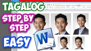 2x2 photo using MS Word DIY Tutorial -Tagalog