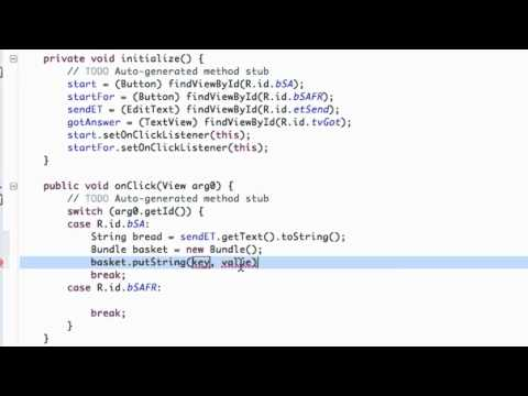 Android Application Development Tutorial - 47 - Passing a String between Activities