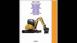 jcb 8025z 8030z 8035z mini excavator service repair workshop manual download