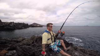 Getting spooled by big Yellowfin land-based!