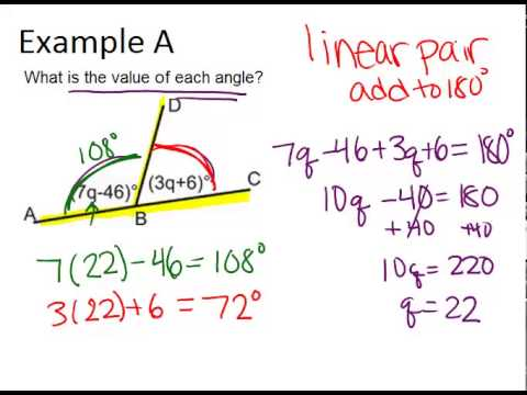 Linear Pairs ( Read ) | Geometry | CK-12 Foundation