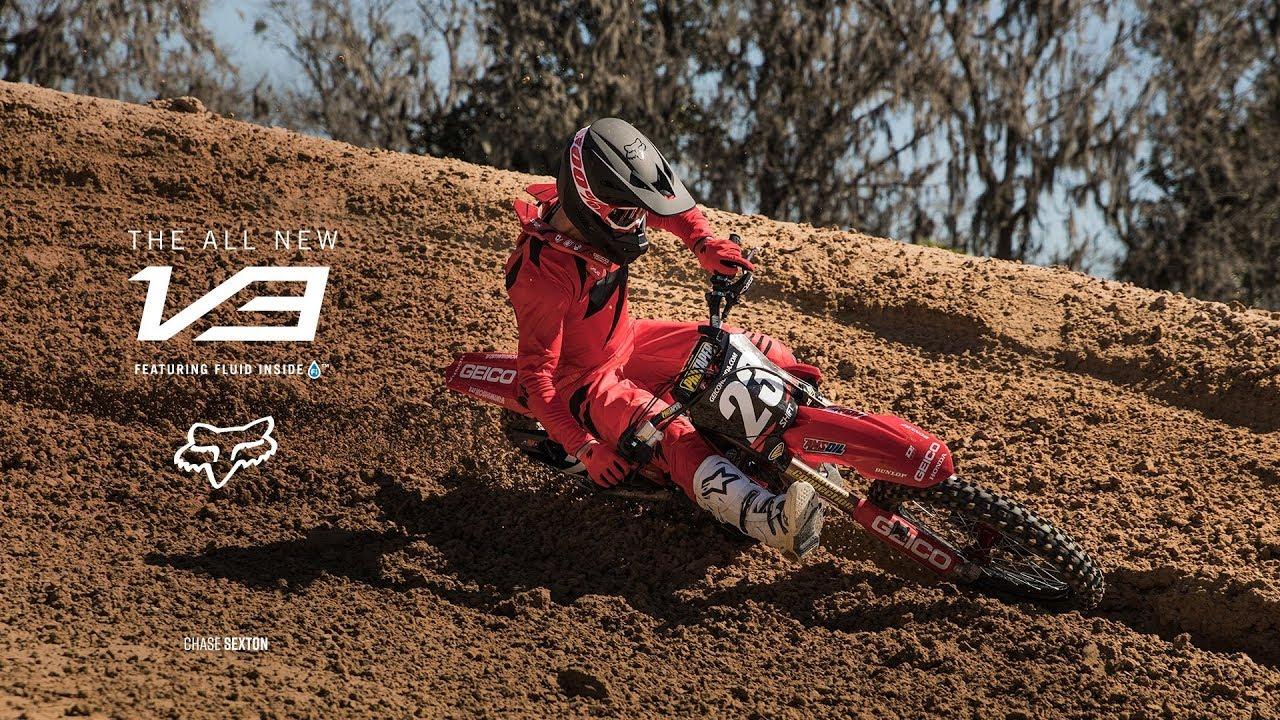 Chase Sexton – Fox V3 Helmet