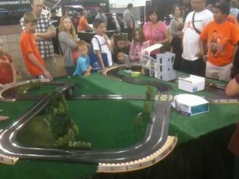Mini Cooper Slot Car Track at the Denver Auto Show