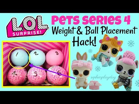 LOL Surprise Pets Series 4 Eye Spy Decoder Weight And Ball Placement Hack Snow Angel Kitty Doll