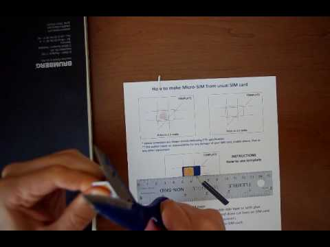 how to make micro sim card from usual sim card