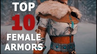 TOP 10 AWESOME FEMALE ARMORS FOR SKYRIM SE