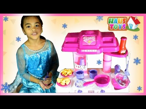 Toy Kitchen Set Cooking Playset For Children ❄ Cooking Toys For Kids by Haus Toys (видео)