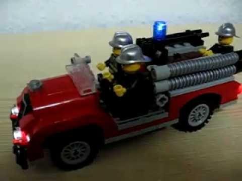 Feuerwehr Auto beleuchtet aus 10197