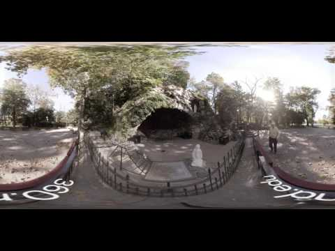 360° at the Grotto of Our Lady of Lourdes at the University of Notre Dame