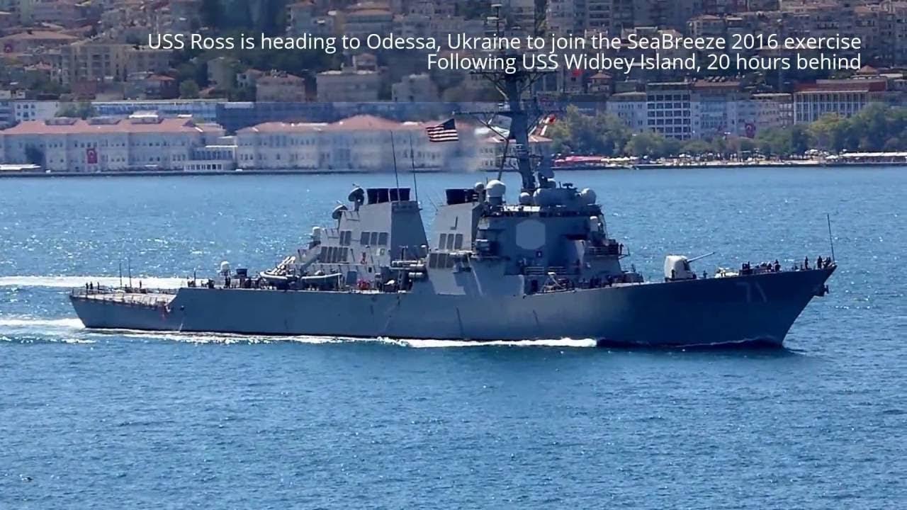 US Military News • USS Ross (DDG 71) Arrives in Odesa, Ukraine for Exercise Sea Breeze 21