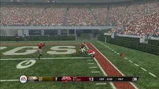 NCAA Football 09 Sports Gameplay - RB Touchdown