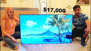 MY NEW $17,000 LG SIGNATURE OLED TV W !!!