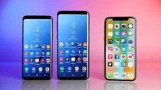 Samsung Galaxy S9 & S9+ vs. Apple iPhone X (Deutsch) | SwagTab - dooclip.me