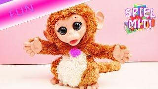 FurReal Friends Hasbro Baby Affe Cuddles niedlich und lustig lacht und bewegt sich | Deutsch
