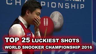 TOP 25 LUCKY SNOOKER SHOTS | World Championship 2016