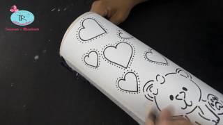 Como fazer luminária de pvc  - Modelo urso