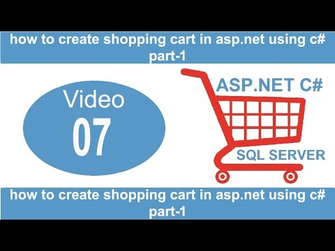 how to create shopping cart in asp.net using c#